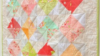 Personalized patchwork baby quilt