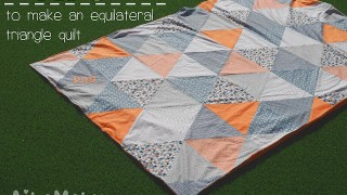 Tutorial manta triangles equilàters  /  Equilateral triangle quilt tutorial